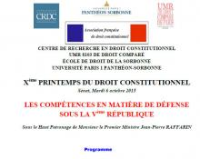 printemps du droit constitutionnel